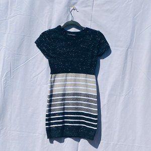derek heart black and grey striped dress